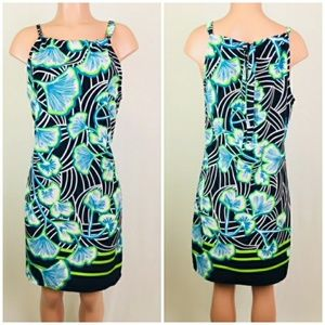 Crown & Ivy sleeveless floral A Line dress size M